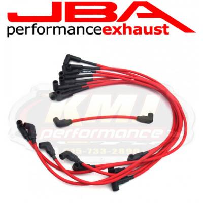 Spark Plugs and Spark Plug Wires - Spark Plug Wires - JBA Exhaust - JBA W0830 1988-1995 Chevy GMC Truck 5.0/5.7L RED 8mm Spark Plug Wires/Powercable