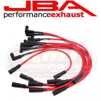 Spark Plugs and Spark Plug Wires - Spark Plug Wires - JBA Exhaust - JBA W0832 1996-1999 Chevy GMC Truck 5.0/5.7L RED 8mm Spark Plug Wires/Powercable