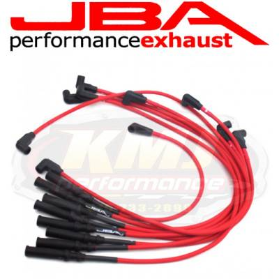 Spark Plugs and Spark Plug Wires - Spark Plug Wires - JBA Exhaust - JBA W0945 1992-2003 Dodge Truck 5.2/5.9L RED 8mm Spark Plug Wires/ Powercables