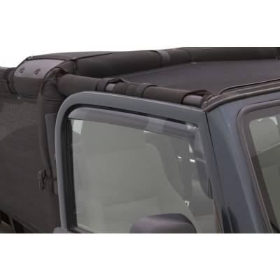 Lund International - Lund 182820 Ventvisor Elite Side Window Shades 2-Piece 1997-2006 Jeep Wrangler