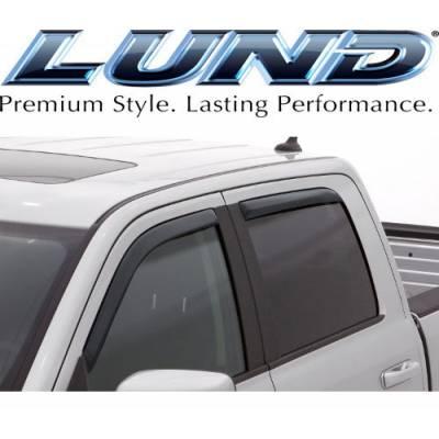 Lund International - Lund 184040 Ventvisor Elite Window Shades 4-Piece 07-13 Chevy Silverado Ext Cab