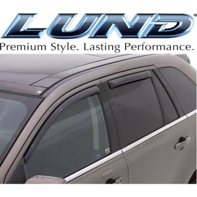 Lund International - Lund 184141 Ventvisor Elite Side Window Shades 4-Piece 2007-2013 Ford Edge Smoke