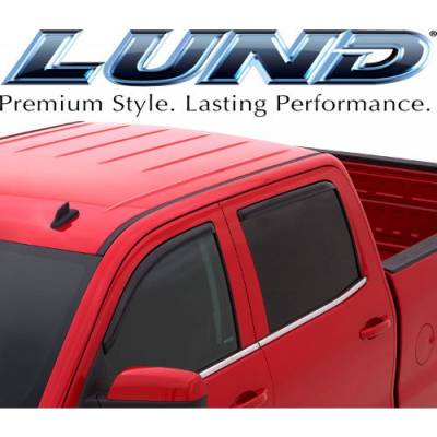 Lund International - Lund 184155 Ventvisor Elite Window Shades 4-Piece 2009-2014 Ford F150 Super Crew