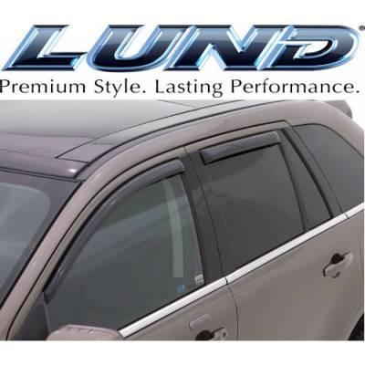 Lund International - Lund 184655 Ventvisor Elite Side Window Shades 4-Piece 2007-2011 Honda CRV Smoke