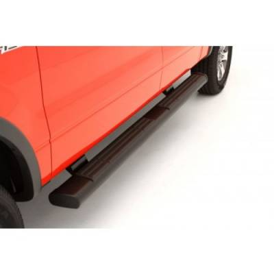 "Exterior - Nerf Bars & Running Boards - Lund International - Lund 22268768 Oval 6"" Straight Black Nerf Bars 2007-2019 Chevy Silverado GMC Sierra Crew Cab"