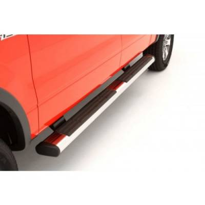 "Exterior - Nerf Bars & Running Boards - Lund International - Lund 22368037 Oval 6"" Straight Chrome Nerf Bars 04-13 Ford F150 Ext Cab Truck"