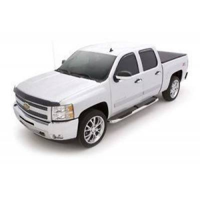 Exterior - Nerf Bars & Running Boards - Lund International - Lund 22646339   Round Bent Nerf Bars SS 1999-2019 Chevrolet Silverado Standard