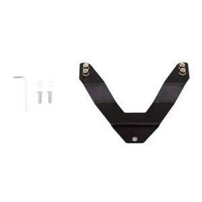 Exterior - Grill Guards & Bull Bars - Lund International - Lund 27021000 Bull Bar License Plate Relocation Bracket Universal Black
