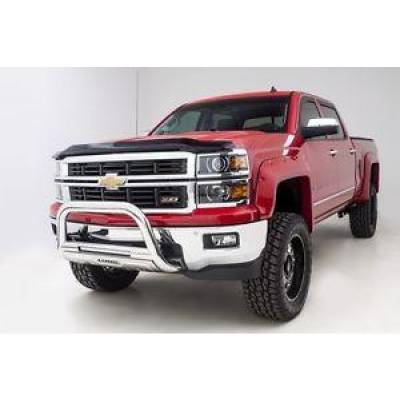 Exterior - Grill Guards & Bull Bars - Lund International - Lund 27021202 Bull Bar with LED Light Stainless 2007-2016 Chevy Silverado 1500