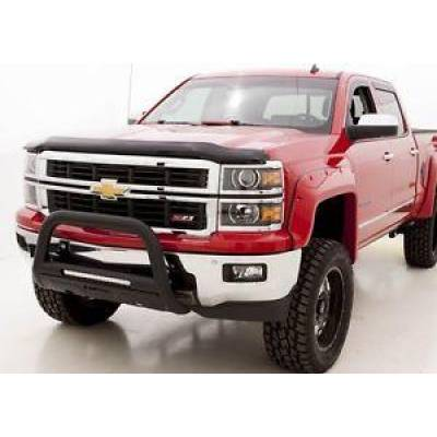 Exterior - Grill Guards & Bull Bars - Lund International - Lund 47121202 Bull Bar with LED Light Black 2007-2015 Chevrolet Silverado 1500