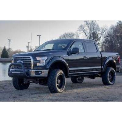 Exterior - Grill Guards & Bull Bars - Lund International - Lund 47121206 Bull Bar with LED Light Black Bumper Guard 2004-2016 Ford F-150