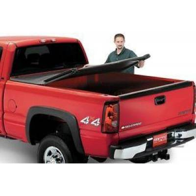 Lund International - 'Lund 950174 Genesis Tri-Fold Tonneau Cover Black 2015-2016 Ford F-150 8'' Bed'