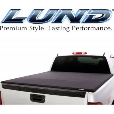 Exterior - Bed Covers - Lund International - Lund Genesis Elite Roll Up Tonneau Bed Cover 2007-2014 Chevy Silverado GMC Sierra