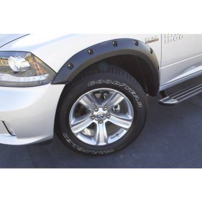 Exterior - Fender Flares - Lund International - Lund RX205S Rivet Style 4Pc Standard Fender Flares 2010-2017 Dodge Ram 2500 3500