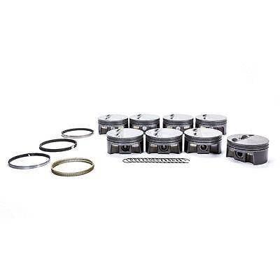 Pistons & Rings - Pistons - Mahle Motorsports - Mahle 930200425 PowerPak Small Block Chevy 372 Flat Top Piston Bore 4.125
