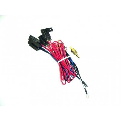 Maradyne - MaraDyne MFA103 Single Electric Fan Relay Fan Wiring Harness Kit w/195* Switch