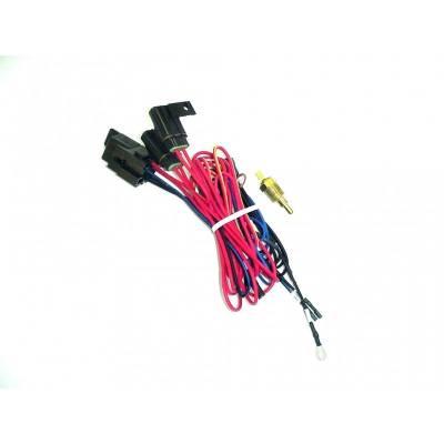 Cooling - Electric Fans & Components - Maradyne - MaraDyne MFA103 Single Electric Fan Relay Fan Wiring Harness Kit w/195* Switch