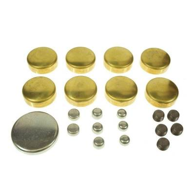 Engine Blocks & Components - Freeze Plugs & Kits - Melling - MEL MPE-100BR SBC Chevy Brass Freeze Frost Plug Kit Small Block 283 305 327 350