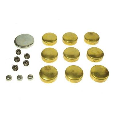 Engine Blocks & Components - Freeze Plugs & Kits - Melling - MEL MPE-101BR SBC Small Block Chevy 400 Brass Engine Freeze Frost Plug Kit