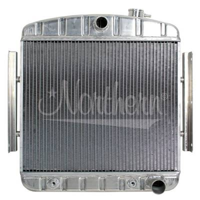 Northern Radiator - Northern 205122 55-57 Chevy V8 Aluminum Downflow Radiator + Transmission Cooler