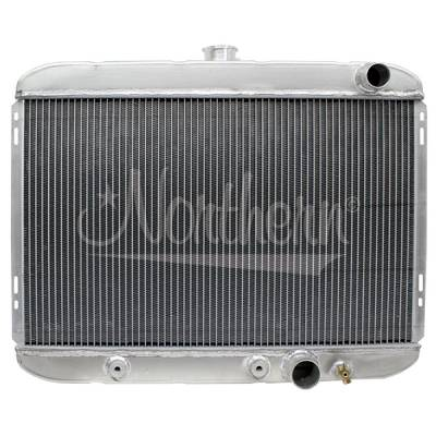 Northern Radiator - Northern 205137 Custom 67-69 Ford Mustang Aluminum Radiator w/ Trans Cooler