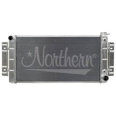 Northern Radiator - Northern 205142 55-57 Chevy Hotrod Belair Crossflow Conversion Aluminum Radiator