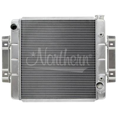 Northern Radiator - Northern 205150 Aluminum Radiator w Trans Cooler 60s 70s GM Universal & Brackets