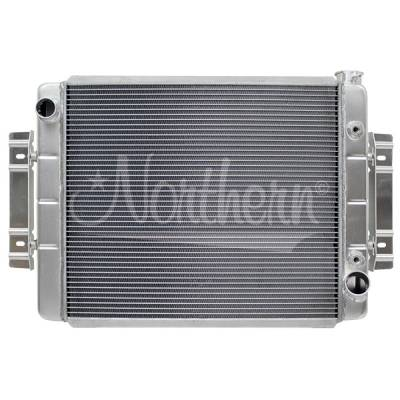 Northern Radiator - Northern 205152 Aluminum Crossflow Radiator w/ Trans Cooler Universal Chevy Cars
