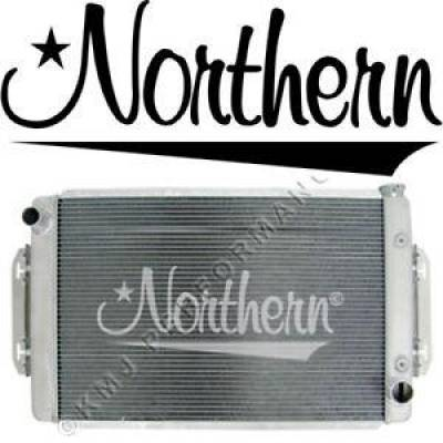 "Northern Radiator - Northern 32"" x 19"" Chevy Truck C10 K10 Aluminum Radiator w/ Brackets Oil Cooler"