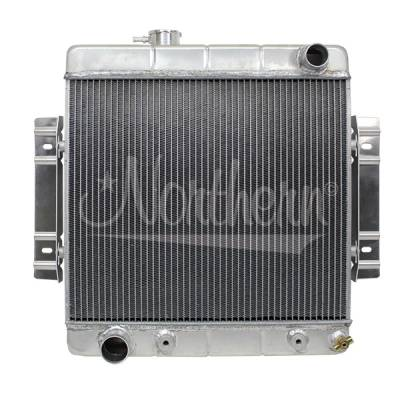 Northern Radiator - Northern 205155 Custom Hotrod Aluminum Crossflow Radiator Ford Hose Location