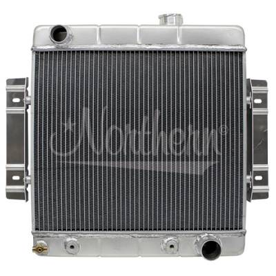 Northern Radiator - Northern 205156 Custom Hotrod Aluminum Downflow Radiator Chevy Hose Location