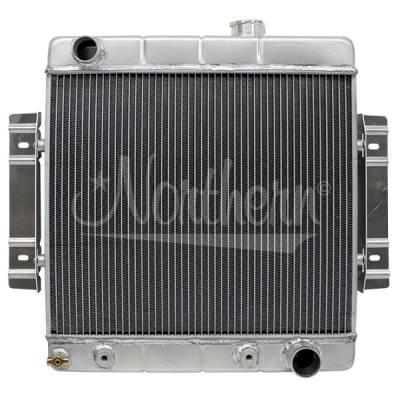 Northern Radiator - Northern 205156 Custom Hotrod Aluminum Downflow Radiator Chevy Hose Location