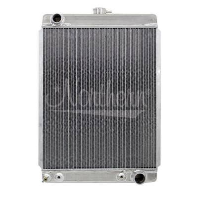 Northern Radiator - Northern 205159 Custom Hotrod 30s-50s Aluminum Downflow Radiator w Trans Cooler