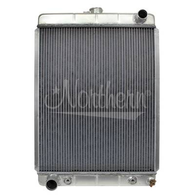 Northern Radiator - Northern 205160 Custom Hotrod Aluminum Downflow Radiator w Auto Trans Ford Hoses