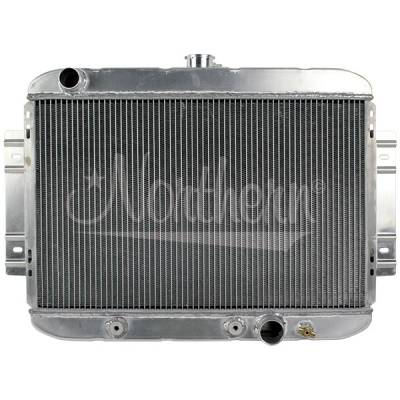Northern Radiator - Northern 205162 Aluminum Hot Rod Coupe Downflow Radiator w/ Chevy Inlet Outlet