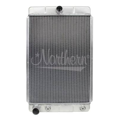 Northern Radiator - Northern 205163 Hotrod Sedan Coupe Custom Aluminum Downflow Radiator Left Outlet