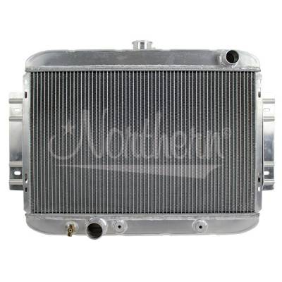 Northern Radiator - Northern 205164 Custom Hot Rod Aluminum Downflow Radiator w/ Ford Inlet Outlet
