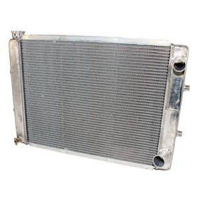 "Northern Radiator - Northern 205167 28"" x 19"" Double Pass Universal Racing Hot Rod Aluminum Radiator"