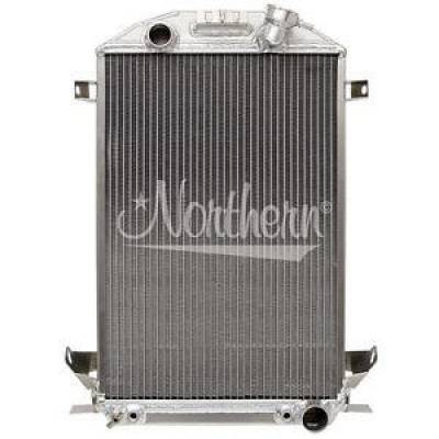 Northern Radiator - Northern 205176 Custom Hotrod Aluminum Downflow Radiator 32 Ford Lowboy Roadster