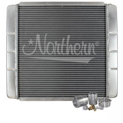"Northern Radiator - Northern 209600B Customizable Aluminum Radiator 19"" x 22"" Crossflow or Downflow"