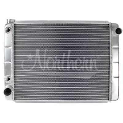 "Northern Radiator - Northern 209618 Race Aluminum Radiator Ford Mopar 28"" X 19"" W/ Trans Oil Cooler"