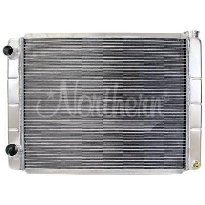 "Northern Radiator - Northern 209625 Aluminum Racing Radiator Ford Mopar 28"" x 19"" Left Double Pass"