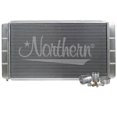 "Northern Radiator - Northern 209628B Customizable Aluminum Radiator 16"" x 31"" Crossflow or Downflow"