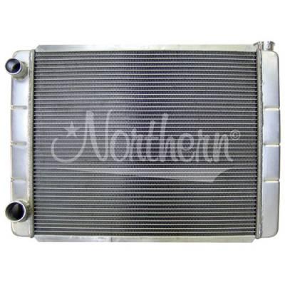 Northern Radiator - Northern 209636 Welded Aluminum Radiator Ford Mopar 26 x 19 Double Pass Race Pro