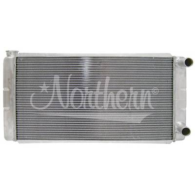 """Northern Radiator - Northern 209651 Low Profile Double Pass Aluminum Radiator 31"""" x 16"""" In/Out Right"""
