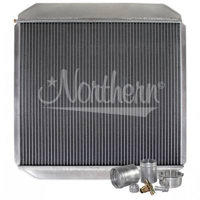"Northern Radiator - Northern 209659B Customizable Aluminum Radiator 21-1/2"" x 22"" Welding Required"