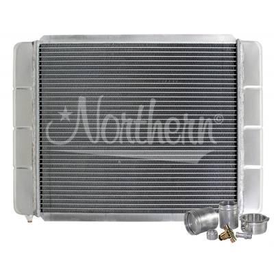 "Northern Radiator - Northern 209662B Customizable Aluminum Radiator 16"" x 22"" Crossflow or Downflow"