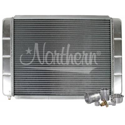 "Northern Radiator - Northern 209663B Customizable Aluminum Radiator 16"" x 24"" Crossflow or Downflow"