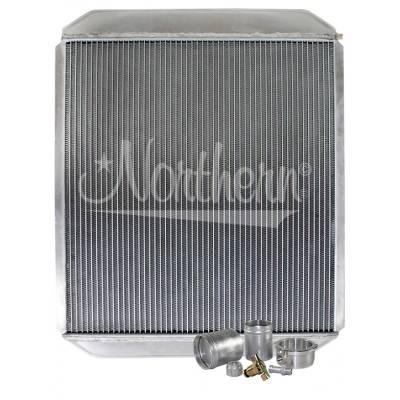 "Northern Radiator - Northern 209664B Customizable Aluminum Radiator 21-1/2"" x 26"" Welding Required"