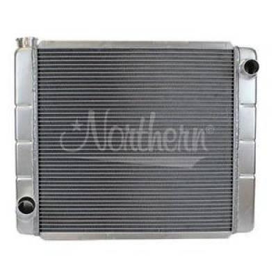 Northern Radiator - Northern 209671 Ford Mopar Style Welded Aluminum 2-Row Radiator 26 x 19 Race Pro
